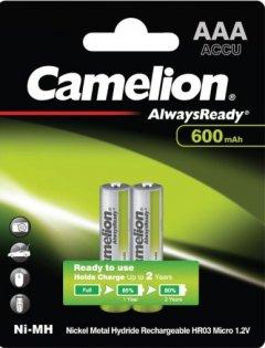 Аккумулятор Camelion Always Ready R 03/2bl AAA 600 мАч Ni-MH (NH-AAA600АRBP2)
