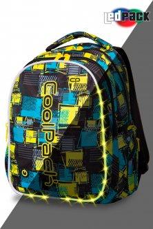 Рюкзак CoolPack JOY-L multicolour LED с USB-кабелем и кодовым замком 44x32x20 см 26 л Squares (A21213)