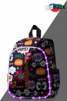 Рюкзак CoolPack Bobby multicolour LED с USB-кабелем и кодовым замком 30x22x8.5 см 8 л Comics (A23202)