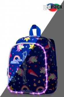 Рюкзак CoolPack Bobby multicolour LED с USB-кабелем и кодовым замком 30x22x8.5 см 8 л Unicorns (A23208)