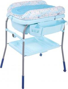 Пеленальный столик с ванночкой Chicco Cuddle & Bubble Голубой (79348.86) (8058664110919)
