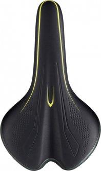 Седло Velo МТВ VL-4249 274x163 мм Black/Yellow (41270)