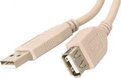 Кабель-удлинитель Atcom USB 2.0 AM/AF 2 Ferite 5 м White (4717)