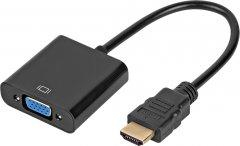 Переходник Atcom HDMI (M) - VGA (F) 0.1 м Black (9220)