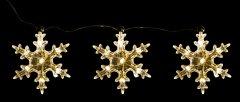 Декоративное украшение Luca Lighting из 3 фигурок Три снежинки (8718861498691white)