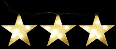 Декоративное украшение Luca Lighting из 3 фигурок Три яркие звездочки (8718861498738matt)