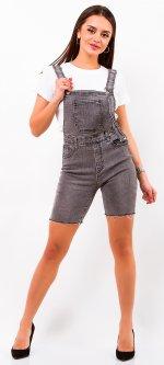 Полукомбинезон джинсовый Remix 3586 M Серый (2950006533171)