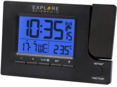 Проекционные часы Explore Scientific Slim Projection RC Dual Alarm Black (RDP1003CM3LC2)