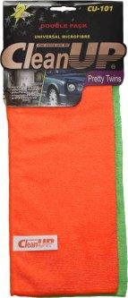 Комплект салфеток из микрофибры универсальных CleanUP 30x40см CU-101 2 шт в уп. 3 комплекта (km79407)