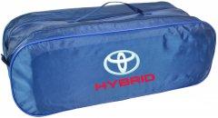 Сумка-органайзер в багажник Тойота Гибрид синяя размер 50 х 18 х 18 см (03-097-2Д)