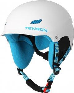 Шлем горнолыжный Tenson Park Jr White-Turquose (5013185-001)