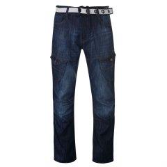 Джинси No Fear Belted Cargo Jeans Mens 30WR Dark Wash (5762350)