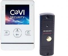Комплект видеодомофона CoVi Security HD-02M-W + V-60 Black (000150292)