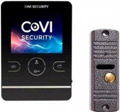 Комплект видеодомофона CoVi Security HD-02M-B + V-60 Silver (00265751)