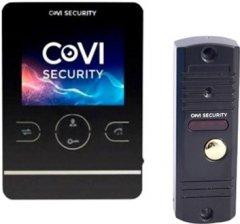 Комплект видеодомофона CoVi Security HD-02M-B + V-60 Black (00265752)
