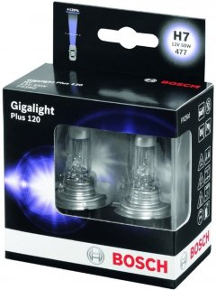 Автолампа Bosch Gigalight Plus 120 H7 2 шт (1 987 301 107)