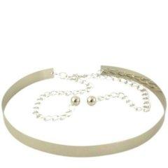 Женский металлический пояс-кольцо Cintura (008819-36) 95 см.