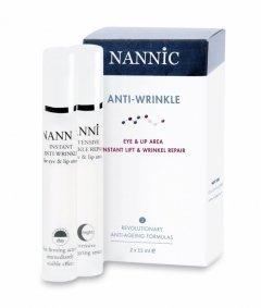 Набор против морщин для век и губ 15мл день + 15мл ночь Nannic Anti-wrinkle set