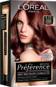 Краска для волос L'Oréal Paris Preference 5.23 Темно-розовое золото 2 х 60 мл + 54 мл (3600523577583)