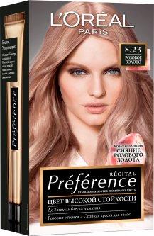 Краска для волос L'Oréal Paris Preference 8.23 Розовое золото 2 х 60 мл + 54 мл (3600523577606)
