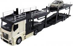 Игровой набор Bburago Автотранспортер Mercedes-benz Actros c автомоделью VW Polo GTI Mark 5 (18-31458) (4893993314560)