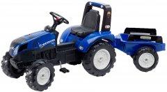 Детский трактор Falk New Holland 3090B на педалях с прицепом Синий (3090B) (3016200309024)