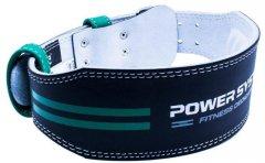 Пояс кожаный для тяжелой атлетики Power System Dedication PS-3260 S Black/Green (PS-3260GN-2-S)