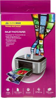 Фотобумага Buromax глянцевая 180 г/м2 10х15 см 100 листов (ВМ.2230-4100)