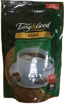 Кофе растворимый сублимированный Easy&Good 75 г (4823086202931)