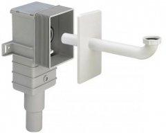 Сифон VIEGA DN 50/40 мм для скрытого монтажа с отводом и накладкой (553760)