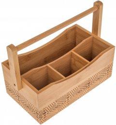 Органайзер для столовых принадлежностей на 4 отсека Lora NRW39STAY 28х16.5х20 см (72-128)
