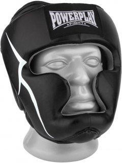 Боксерский шлем PowerPlay 3066 PU + Amara S Черный (PP_3066_S_Black)