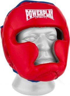 Боксерский шлем PowerPlay 3068 PU + Amara XS Красно-синий (PP_3068_XS_Red/Blue)