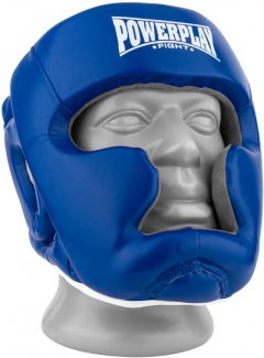 Боксерский шлем PowerPlay 3068 PU + Amara XS Сине-белый (PP_3068_XS_Blue/White)