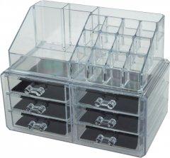 Органайзер-стойка Supretto для косметики с 6 ящичками Прозрачный 23х14х18 см (2000100032268)