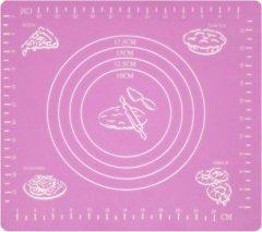 Коврик для раскатывания и выпечки Supretto 29х26 см Розовый 4769-0002)