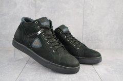 Чоловічі кеди multi-shoes з нубука чорні зимові 41 розмір FV_00398_41