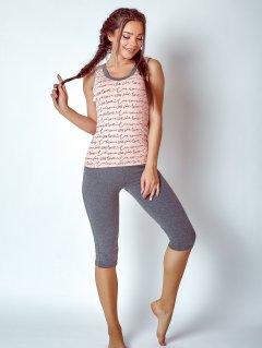 Комплект (майка+бриджи) BARWA garments 0125/218 M Персиковый (2111252182432)