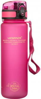Бутылка для воды Uzspace Frosted 500 мл Розовая (3026PK)