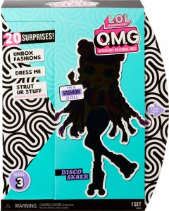 Игровой набор с куклой L.O.L. Surprise! O.M.G S3 - Диско-скейтер с аксессуарами (567196)
