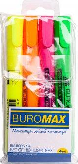Набор круглых текстовых маркеров Buromax 1-4.6 мм 4 шт (BM.8906-94)