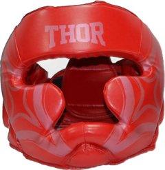 Боксерский шлем Thor 727 Cobra S Red (727 (Leather) RED S)