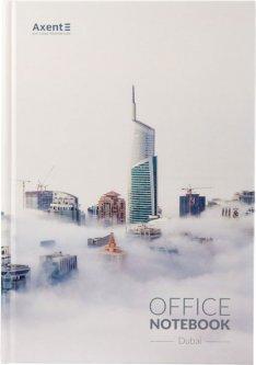 Книга канцелярская записная Axent Dubai А4 в твердой обложке 192 листа клетка (8423-23-A)