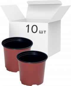 Упаковка горшков для рассады Modiform Терракотовых 2 л x 10 шт (2020071607)