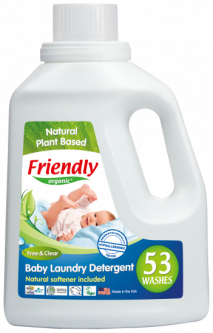 Органический жидкий стиральный порошок--концентрат Friendly organic без запаха 1,57 литров (53 стирки)