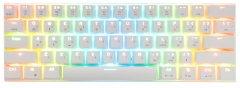 Клавиатура беспроводная, проводная Motospeed СK62, RGB, BT, USB White ENG, UKR, RUS Outemu Blue (mtck62wmb)