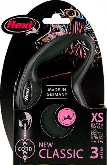 Поводок-рулетка Flexi Classic XS 3 м Черный (4000498022429)