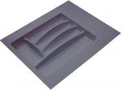 Лоток для столовых приборов Hafele пластиковый 400-450 мм Антрацитовый (556.46.304)