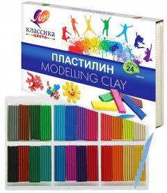 Пластилин Луч Классика + стек 24 цвета 480 г (4601185013890)