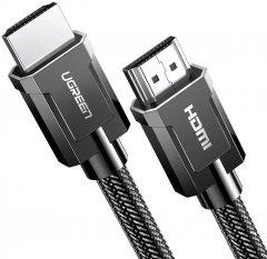 Кабель Ugreen HD135 HDMI to HDMI v2.1 8K-60 Гц/4K-120 Гц Braided 1 м Gray (90402014)